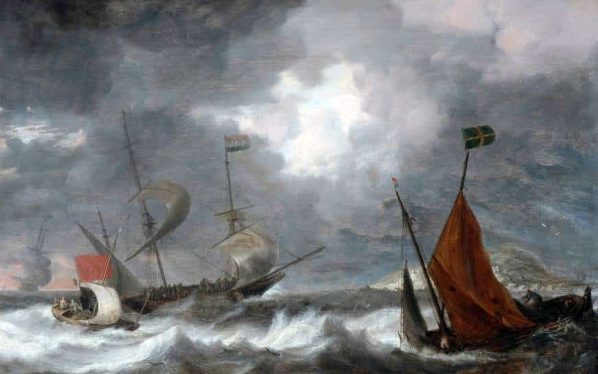 Smile N Wave Sailing Adventures - Featured Image for The History Of Sailing In Destin Part One - Peeter's Sea storm